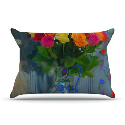 Spring Bouquet by S. Seema Z Featherweight Pillow Sham Size: Queen, Fabric: Woven Polyester