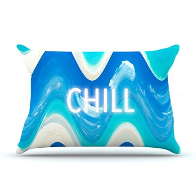 Chill by Vasare Nar Featherweight Pillow Sham Size: King, Fabric: Woven Polyester