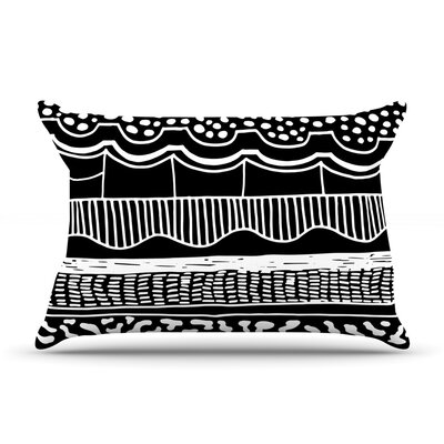 Abiodun Tribal by Vasare Nar Featherweight Pillow Sham Size: King, Fabric: Woven Polyester