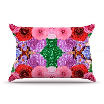 Kaleidoscopic Flowers by Vasare Nar Featherweight Pillow Sham Size: Queen, Fabric: Woven Polyester