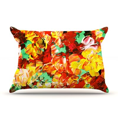 Floral Fantasy II by Ebi Emporium Featherweight Pillow Sham Size: King, Fabric: Woven Polyester