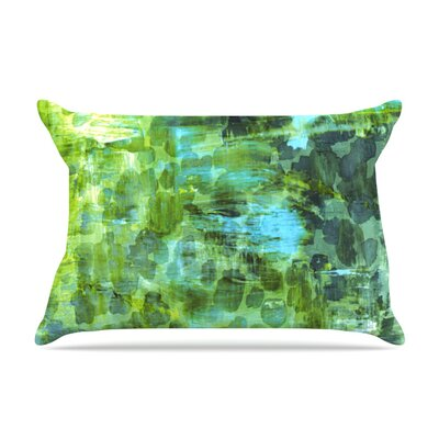 Pastel Jungle II by Ebi Emporium Featherweight Pillow Sham Size: King, Fabric: Woven Polyester