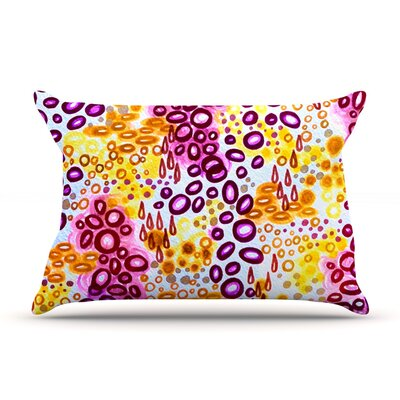 Circular Persuasion by Ebi Emporium Woven Pillow Sham Size: King, Color: Yellow/Purple