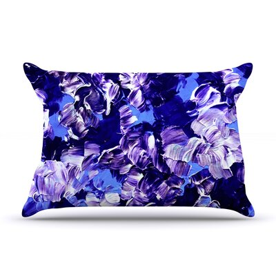 Floral Fantasy by Ebi Emporium Featherweight Pillow Sham Size: King, Fabric: Woven Polyester