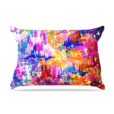 Ebi Emporium Sky Risers Glam Pillow Case Color: Pink