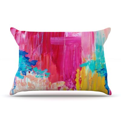 Elated by Ebi Emporium Featherweight Pillow Sham Size: King, Fabric: Woven Polyester