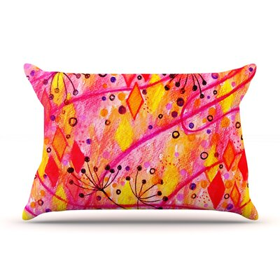 Ebi Emporium Into The Fall 2 Pillow Case Color: Orange