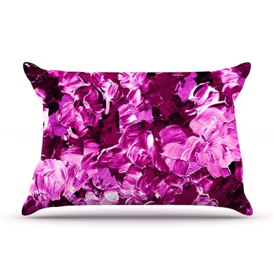 Ebi Emporium Floral Fantasy Pillow Case Color: Magenta