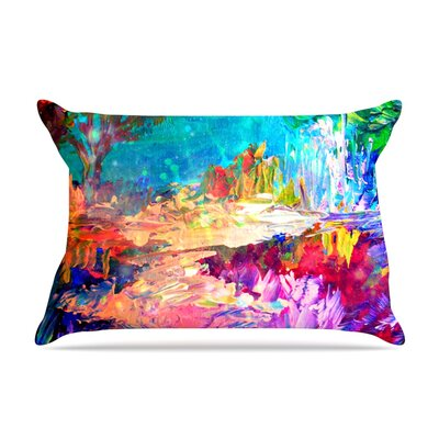 Welcome to Utopia by Ebi Emporium Featherweight Pillow Sham Size: King, Fabric: Woven Polyester