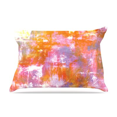 Ebi Emporium Off The Grid Rainbow Pillow Case Color: Orange