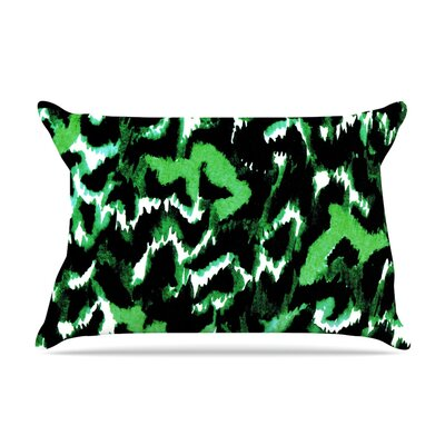 Wild at Heart by Ebi Emporium Featherweight Pillow Sham Size: King, Color: Green, Fabric: Woven Polyester