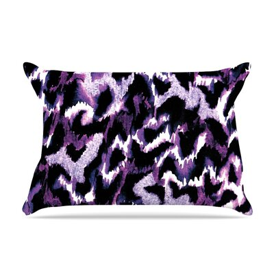 Wild at Heart by Ebi Emporium Featherweight Pillow Sham Size: Queen, Color: Purple, Fabric: Woven Polyester