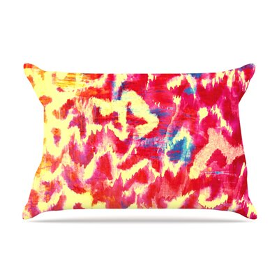 Ebi Emporium Wild At Heart Pillow Case Color: Pink/Orange