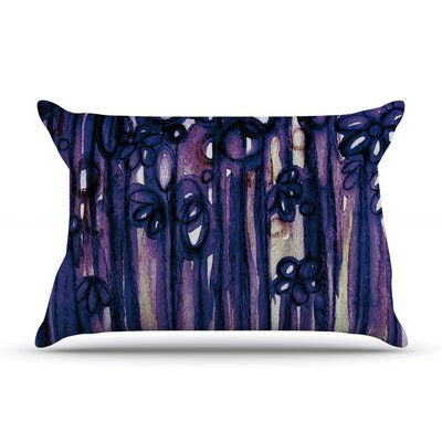 Winter Garden in Violet by Ebi Emporium Featherweight Pillow Sham Size: King, Fabric: Woven Polyester