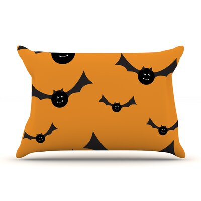 Going Batty Featherweight Pillow Sham Size: Queen, Fabric: Woven Polyester