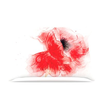 Louise Poppy Floral Pillow Case