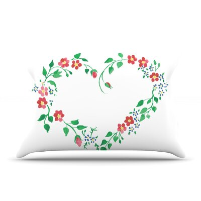 Heart by Louise Featherweight Pillow Sham Size: Queen, Fabric: Woven Polyester