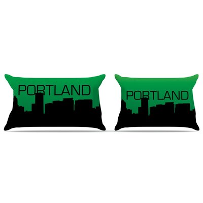 Portland Featherweight Pillow Sham Size: King, Fabric: Woven Polyester