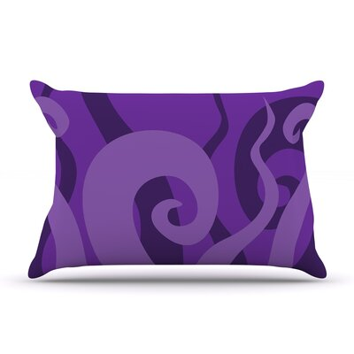 Poor Unfortunate Souls Featherweight Pillow Sham Color: Purple, Size: Queen, Fabric: Woven Polyester