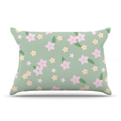 Spring Floral Featherweight Pillow Sham Size: Queen, Fabric: Woven Polyester