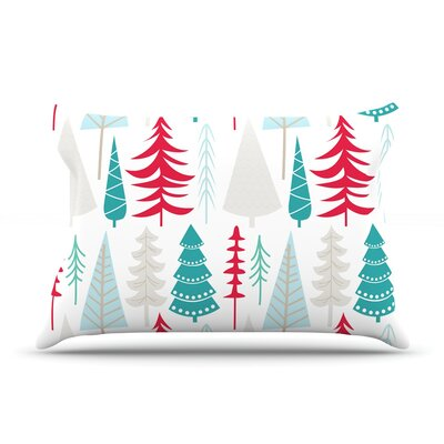 Happy Forest Pillow Case Color: Red/Blue