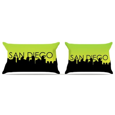 San Diego Featherweight Pillow Sham Size: Queen, Fabric: Woven Polyester