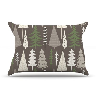 Happy Forest Pillow Case Color: Brown/Green