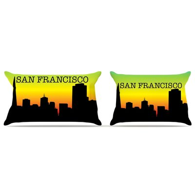 San Francisco Featherweight Pillow Sham Size: King, Fabric: Woven Polyester
