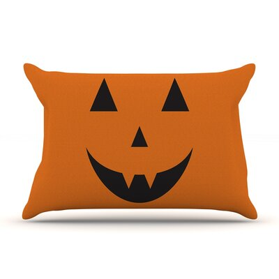 Pumpkin - Treat Featherweight Pillow Sham Size: King, Fabric: Woven Polyester
