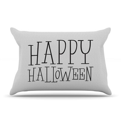 Happy Halloween Pillow Case Color: White