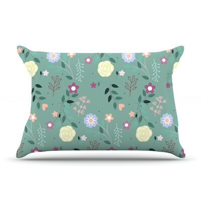 Louise Flora Flowers Pillow Case