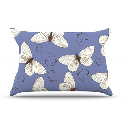 Butterflies by Louise Featherweight Pillow Sham Size: Queen, Fabric: Woven Polyester
