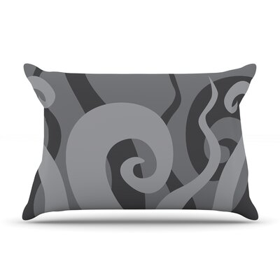 Poor Unfortunate Souls Featherweight Pillow Sham Size: King, Color: Gray, Fabric: Woven Polyester