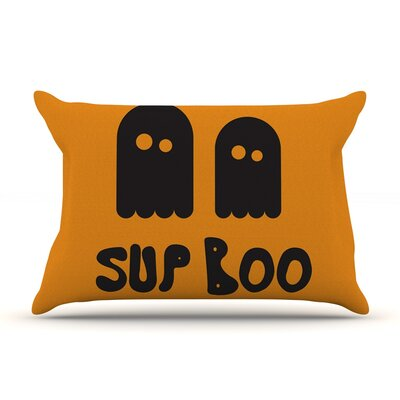 Sup Boo Featherweight Pillow Sham Size: King, Fabric: Woven Polyester