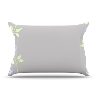 Flower II by Louise Featherweight Pillow Sham Size: Queen, Fabric: Woven Polyester