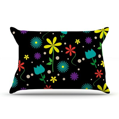 Flower I by Louise Featherweight Pillow Sham Size: Queen, Fabric: Woven Polyester
