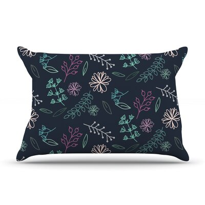 Flower III by Louise Featherweight Pillow Sham Size: King, Fabric: Woven Polyester