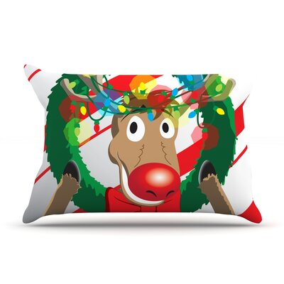 Reindeer Featherweight Pillow Sham Size: Queen, Fabric: Woven Polyester