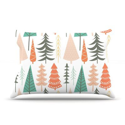 Happy Forest Featherweight Pillow Sham Color: Orange/Green, Size: King, Fabric: Woven Polyester