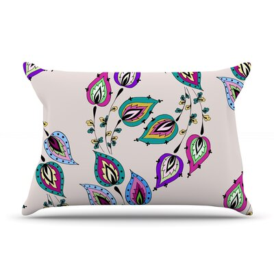 Leave by Louise Featherweight Pillow Sham Size: King, Fabric: Woven Polyester