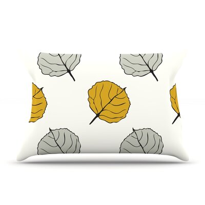 Quaking Leaf by Laurie Baars Featherweight Pillow Sham Size: King, Fabric: Woven Polyester