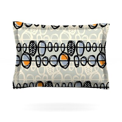 Benin by Gill Eggleston Featherweight Pillow Sham Size: Queen, Color: Blue, Fabric: Woven Polyester