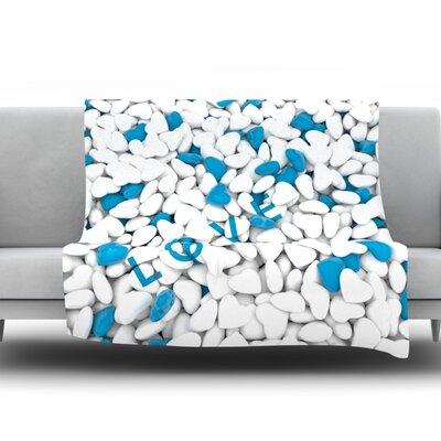 Hearts Love by Nick Atkinson Fleece Throw Blanket Size: 60 H x 50 W x 1 D