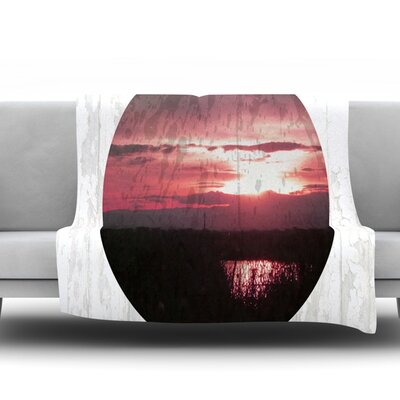 Valley by Micah Sager Fleece Throw Blanket Size: 90 H x 90 W x 1 D