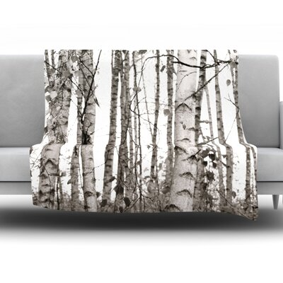 Birchwood Fleece Throw Blanket Size: 40 L x 30 W