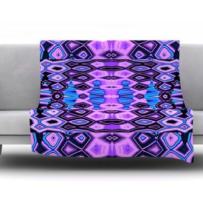 Deztecca Lilac by Nina May Fleece Throw Blanket Size: 60 H x 50 W x 1 D