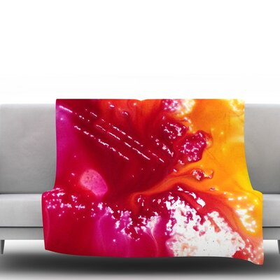 Color River Fleece Throw Blanket Size: 40 L x 30 W
