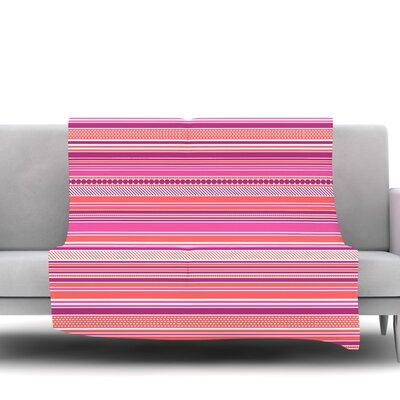 Pink Ribbons Fleece Throw Blanket Size: 60 L x 50 W