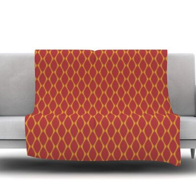 Marsala Fleece Throw Blanket Size: 80 L x 60 W, Color: Mustard