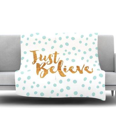 Just Believe Fleece Throw Blanket Size: 40 L x 30 W